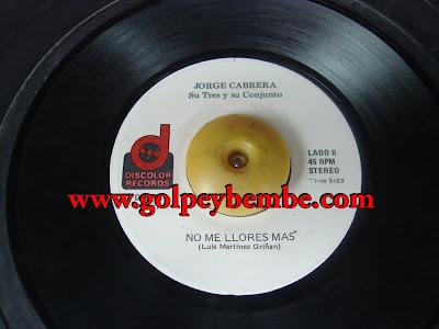 45 Rpm Conjunto Jorge Cabrera - Side B