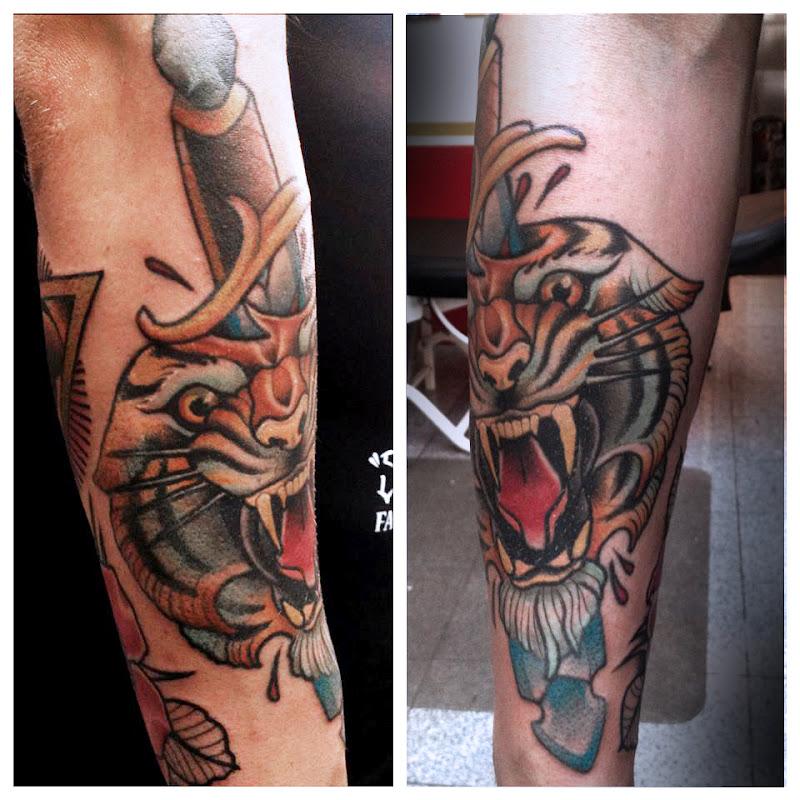 tiger #neo traditional #tiger tattoo