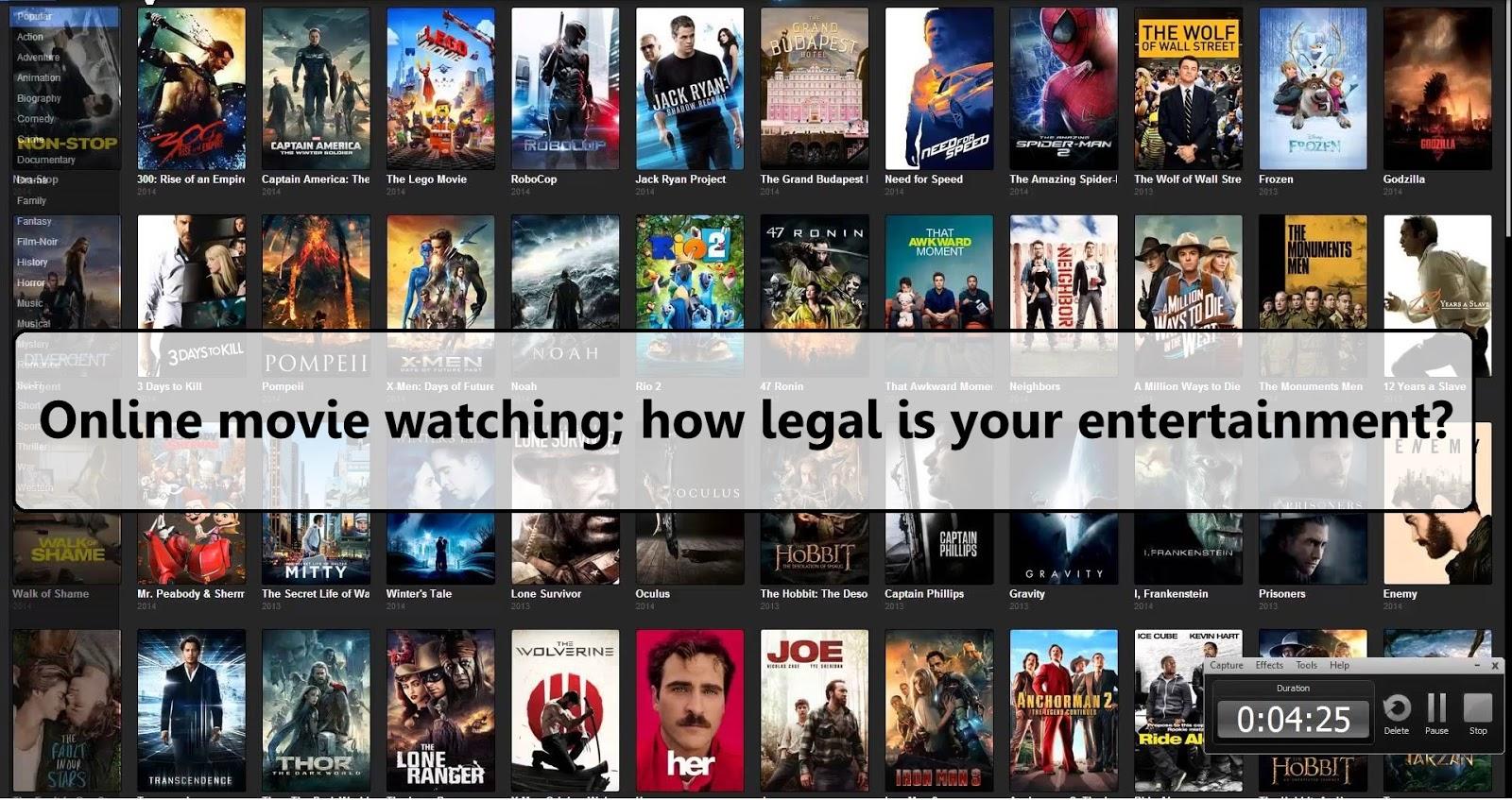 Watching movie online legal