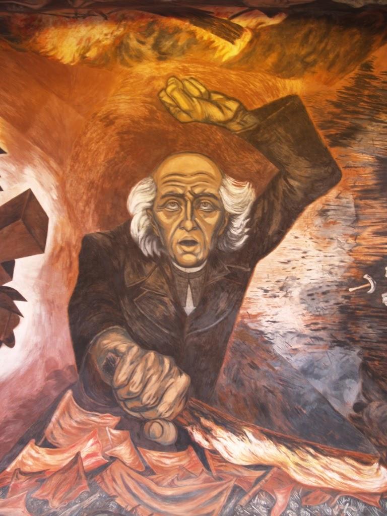 Guadalajara de hoy mural de miguel hidalgo y costilla for El mural guadalajara jalisco