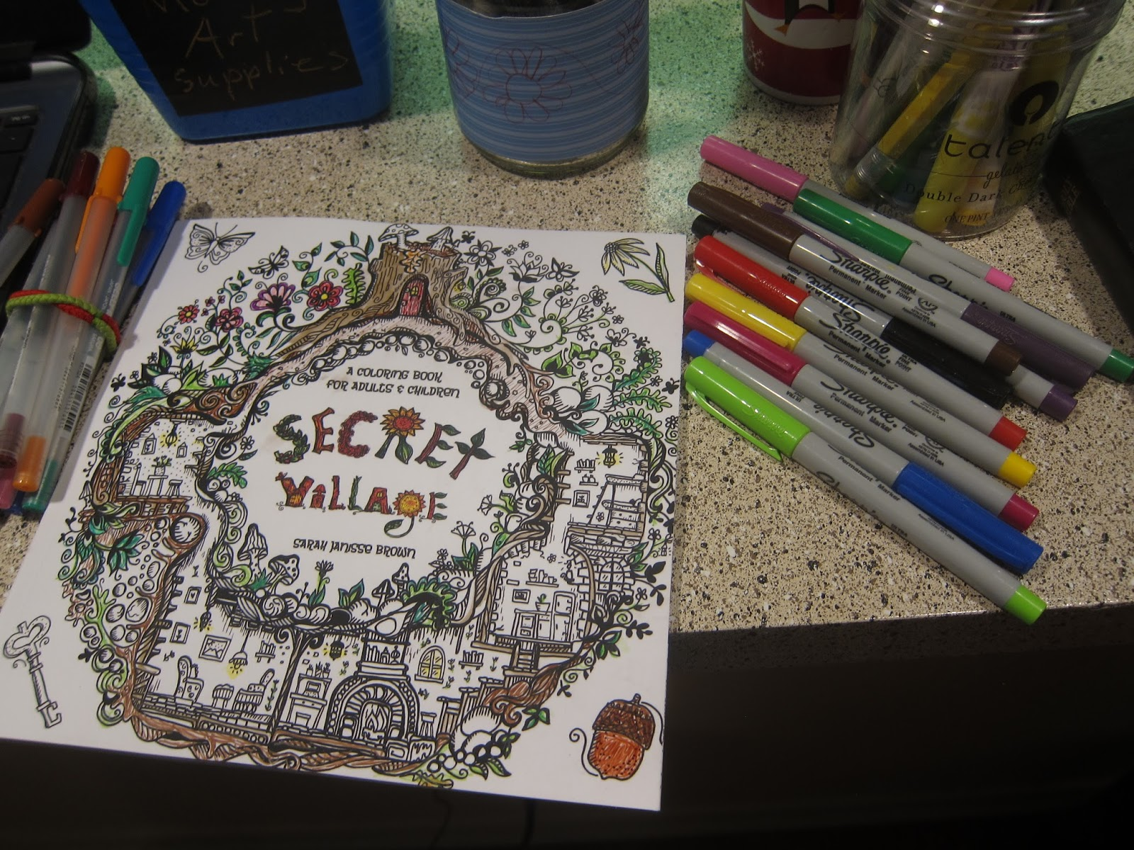 Adult Coloring Book Review And Each Medium Used