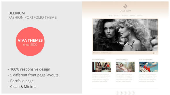 download Delirium – Fashion Portfolio WordPress Theme