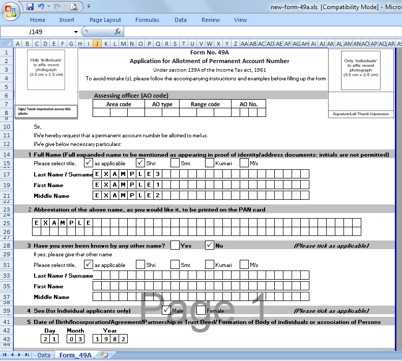 Free Download Tan Correction Form In Excel Format Download