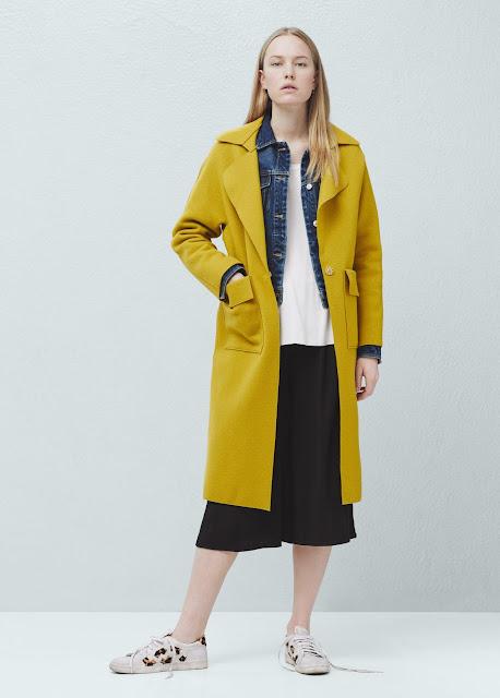 mango mustard coat, mustard wool coat, mustard wool coat,
