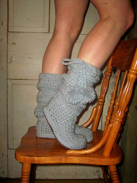 Crocheted Boots Pattern