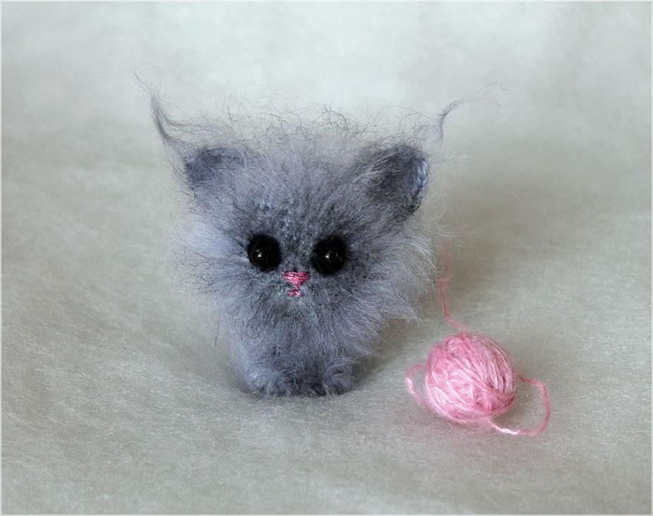 Мастер класс котенок вязанный
