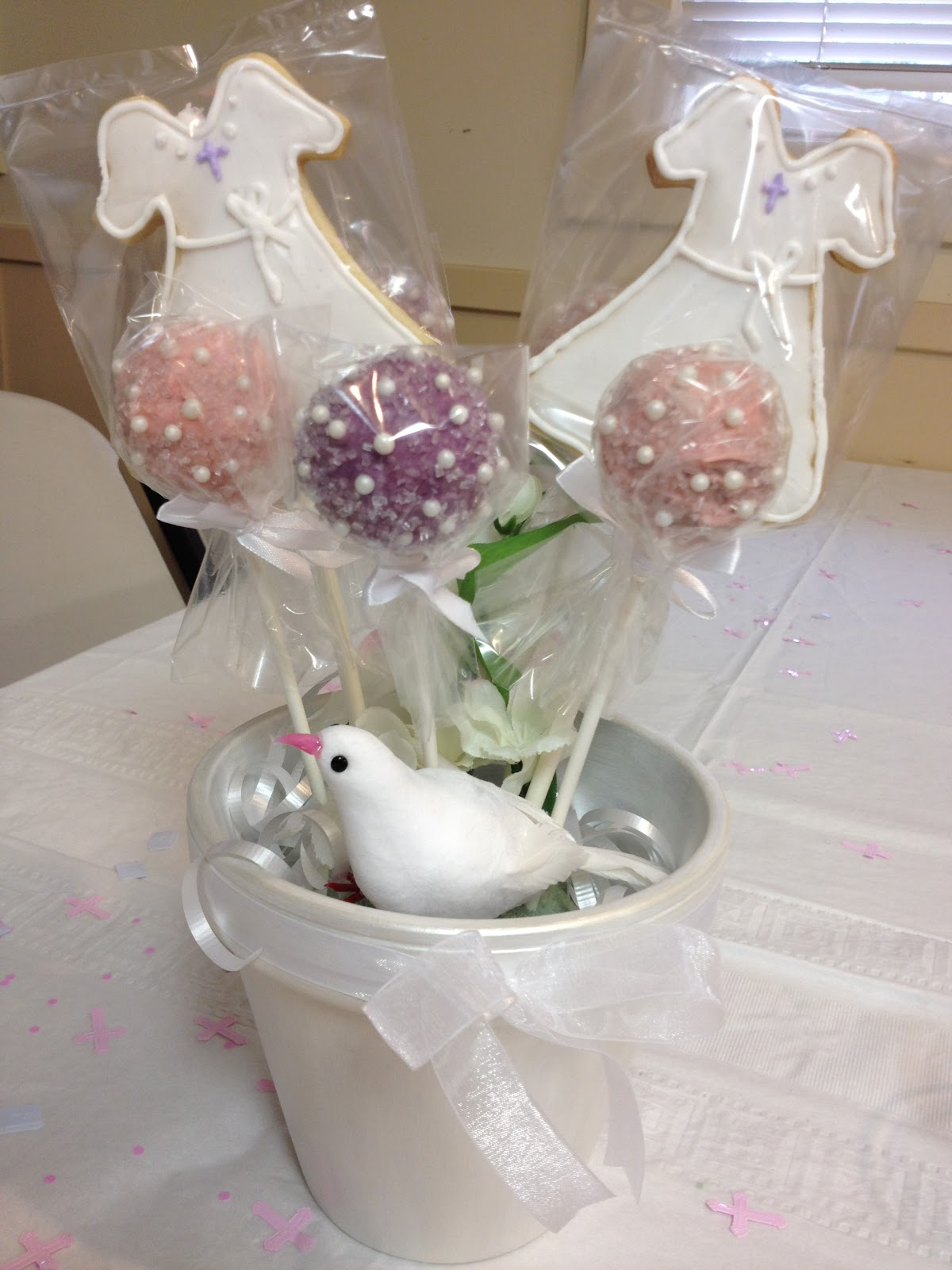 Cake Pops Wedding Centerpieces