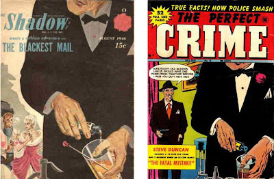 Shadow 8/46 cover and The Perfect Crime 14 cover