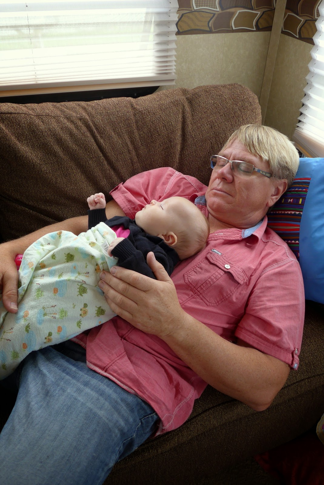 Anders and our Grand Daughter Isla sound asleep.