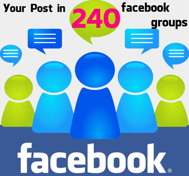 Post in 240 Facebook Groups