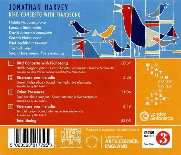 Jonathan Harvey – Bird Concerto with Pianosong (Hideki Nagano)