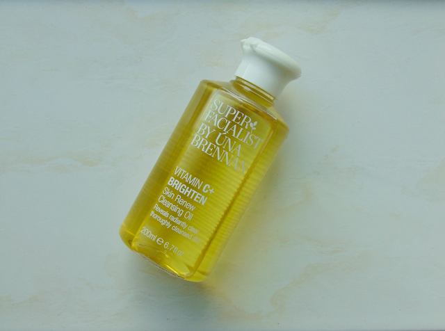 This a picture of the Super Facialist by Una Brennan Vitamin C+ Brighten Skin Renew Cleansing Oil