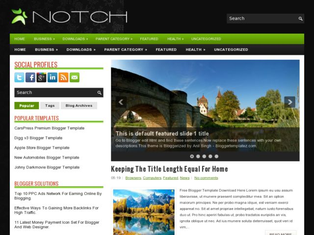 Notch Blogger Template