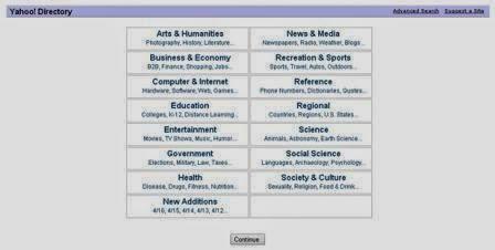 Yahoo directory  home page