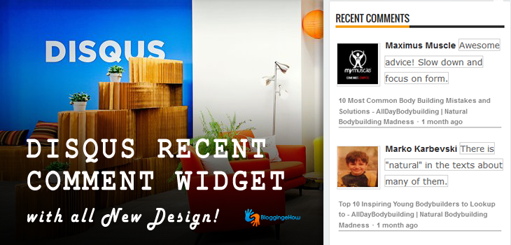 Disqus Latest / Recent Comments Widget - All New Design!