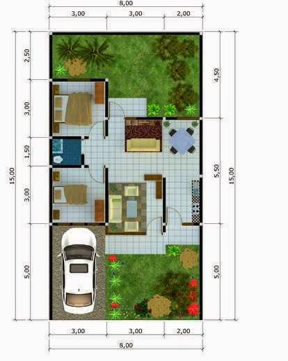 Desain Denah Rumah Minimalis Type 54 | Harga Terbaru 2014 | Desain ...