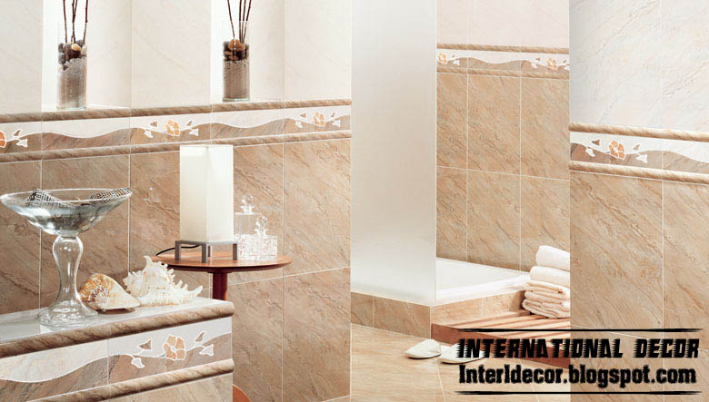 Ceramic Tile Bathroom Wall Ideas Part - 37: Brown Bathroom Ceramic Tiles Classic Wall Tiles Design, ...