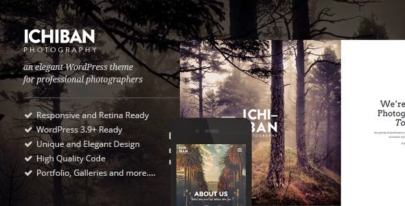 Ichiban - A WordPress Theme for Photographers