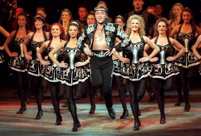Michael Flatley and co giving it loads as part of 'Lord of the Dance'.