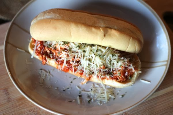 slow cooker parmesan subs