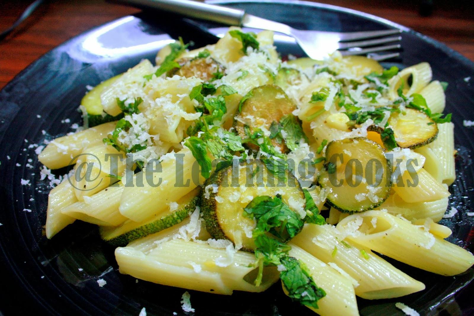 ... Cooks: Zucchini, Lemon & Mint Pasta ~ Easy & Light Pasta Recipe
