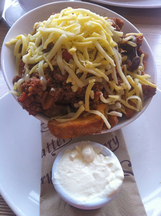 Slattery of Whitefield - Spicy Wedges with Beef Chilli, Cheese and Sour Cream
