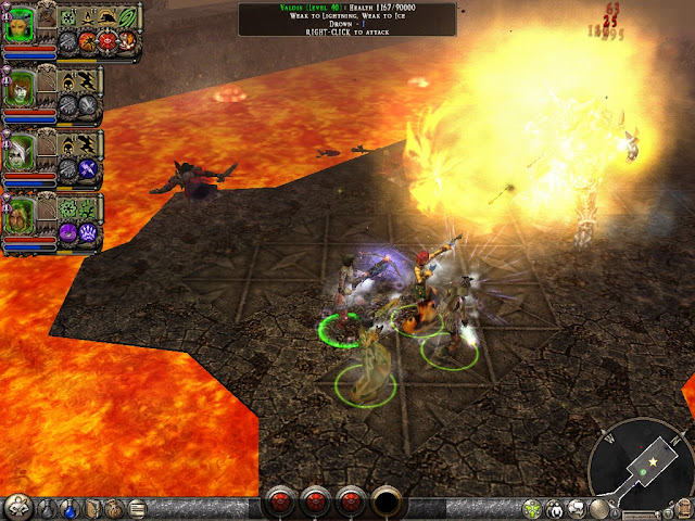 Dungeon Siege 2 - Fighting Valdis Screenshot