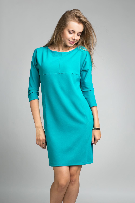Платье прямого силуэта: с рукавом и с цельнокроеным рукавом