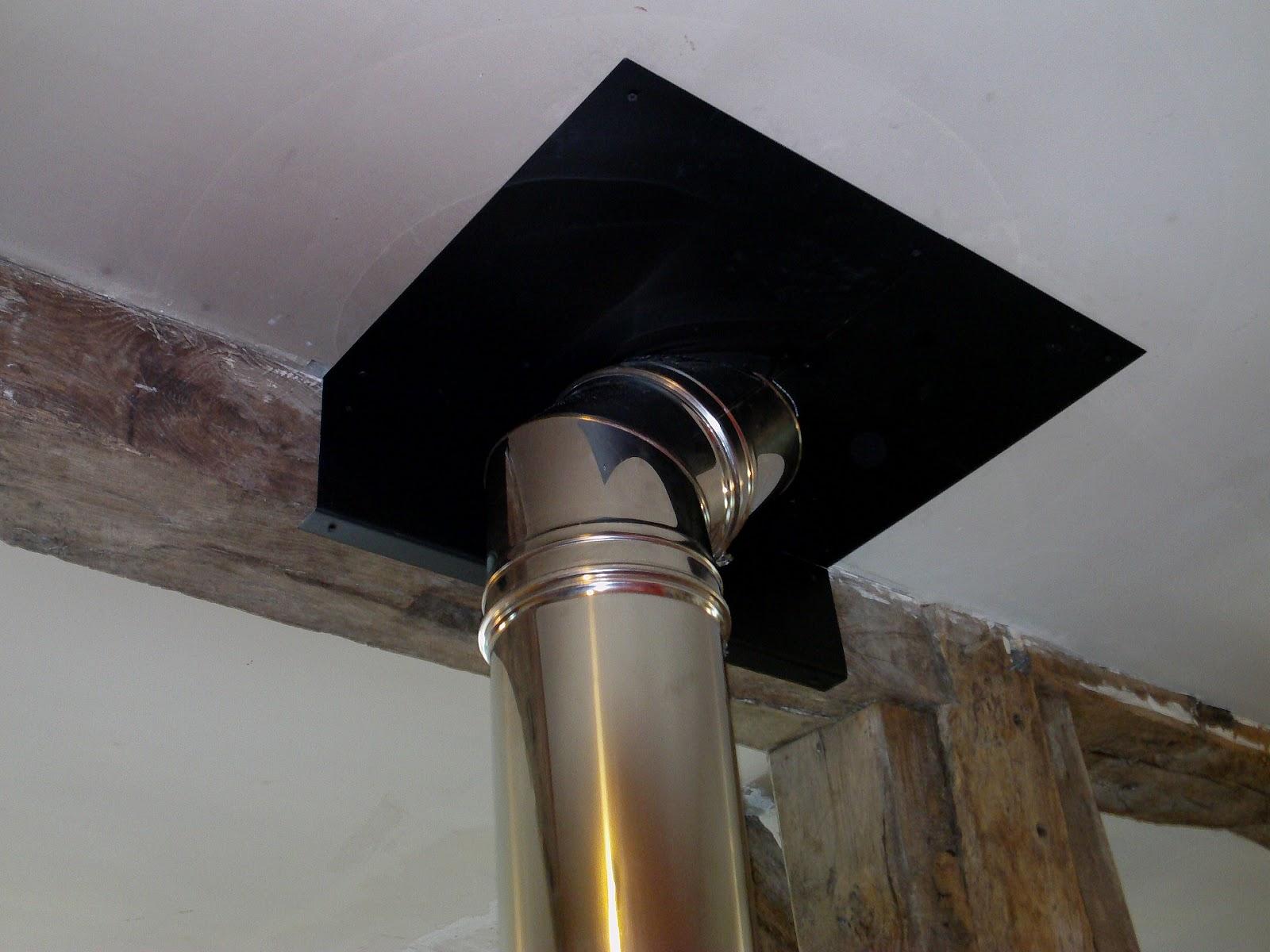 Technysoud plaque de proprete conduit de poele chapeau for Pose conduit de cheminee