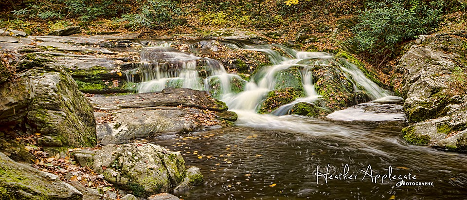 Roaring Fork Waterfalls Smoky Mountains by Heather Applegate