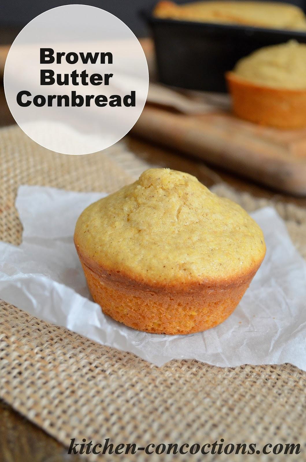 Brown Butter Cornbread - Kitchen Concoctions