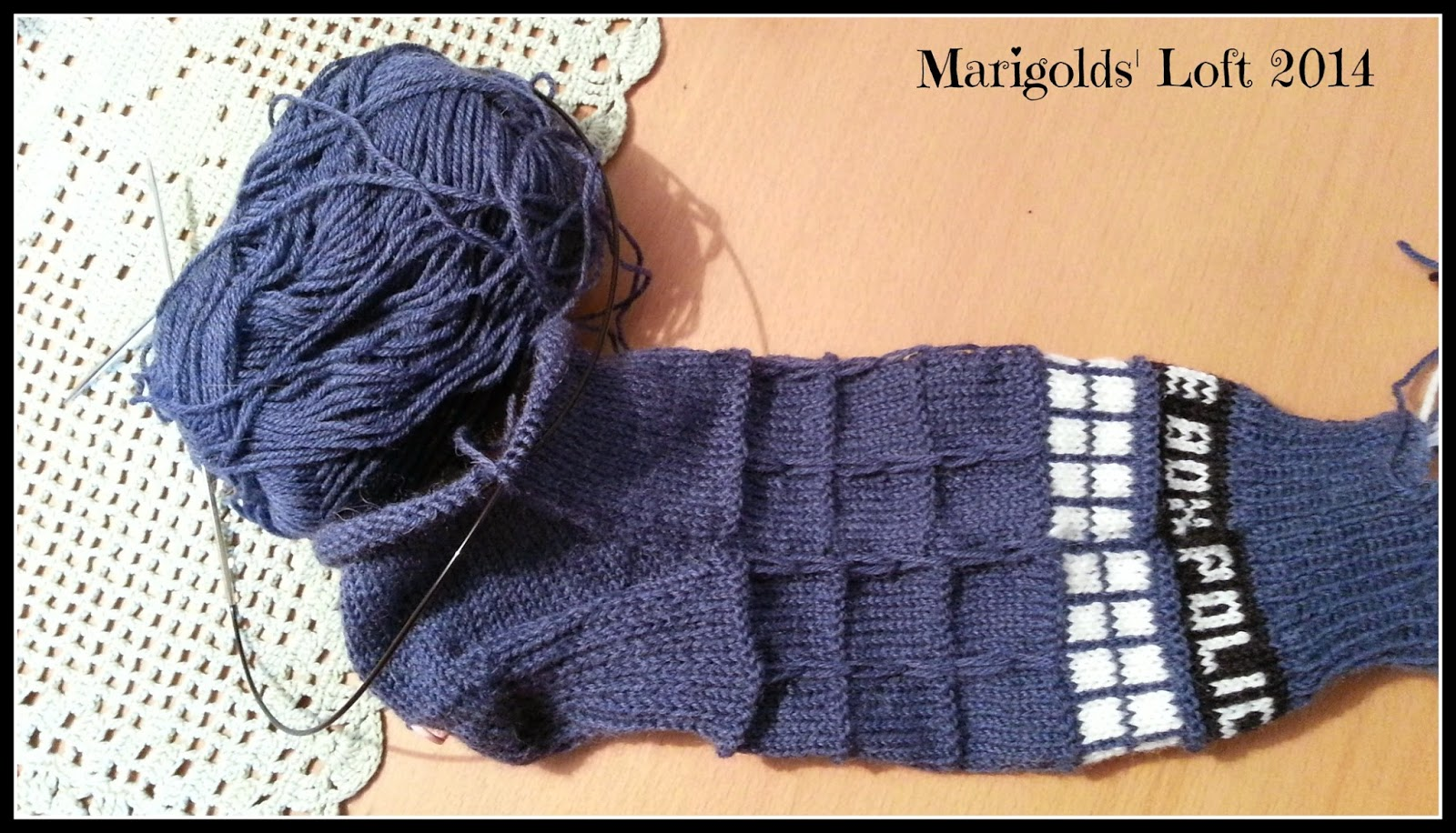 Tardis Socks Drops Fabel