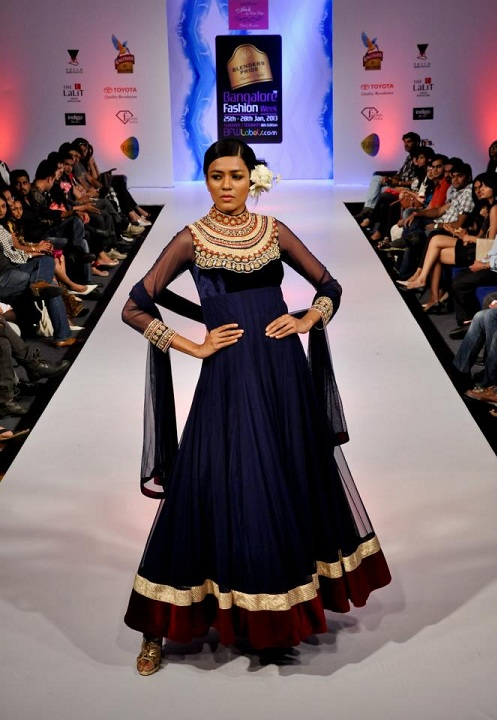 Designer Neha Modi at Banglore Fashion Week Summer Showers 2013