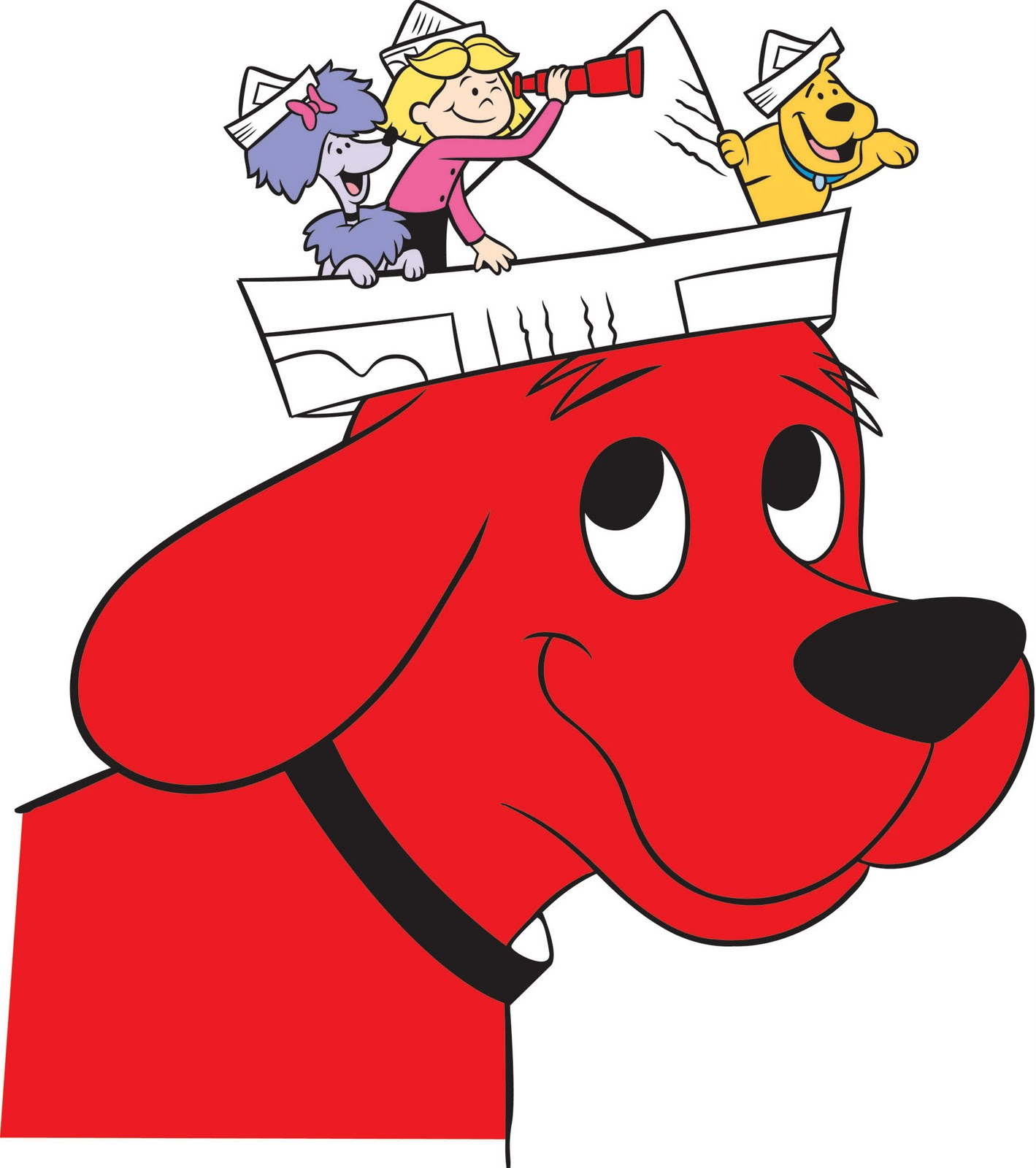 This is a picture of Declarative Clifford the Big Red Dog Clipart