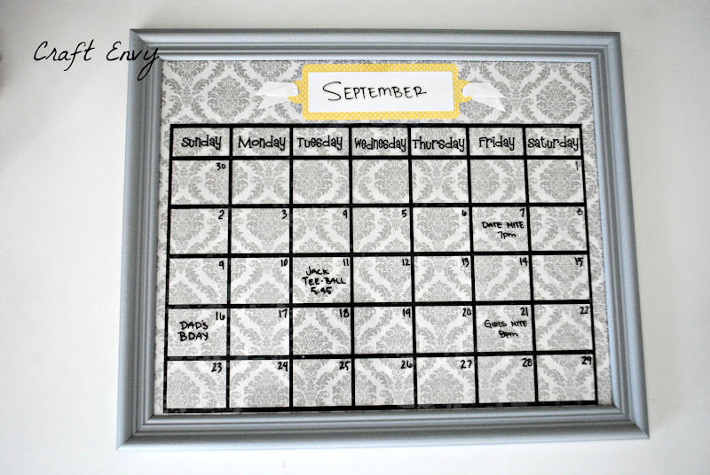 Framed Wall Calendar craft envy: saturday spotlight #100 & say it on the wall giveaway