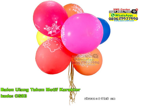 Balon Ulang Tahun Motif Karakter
