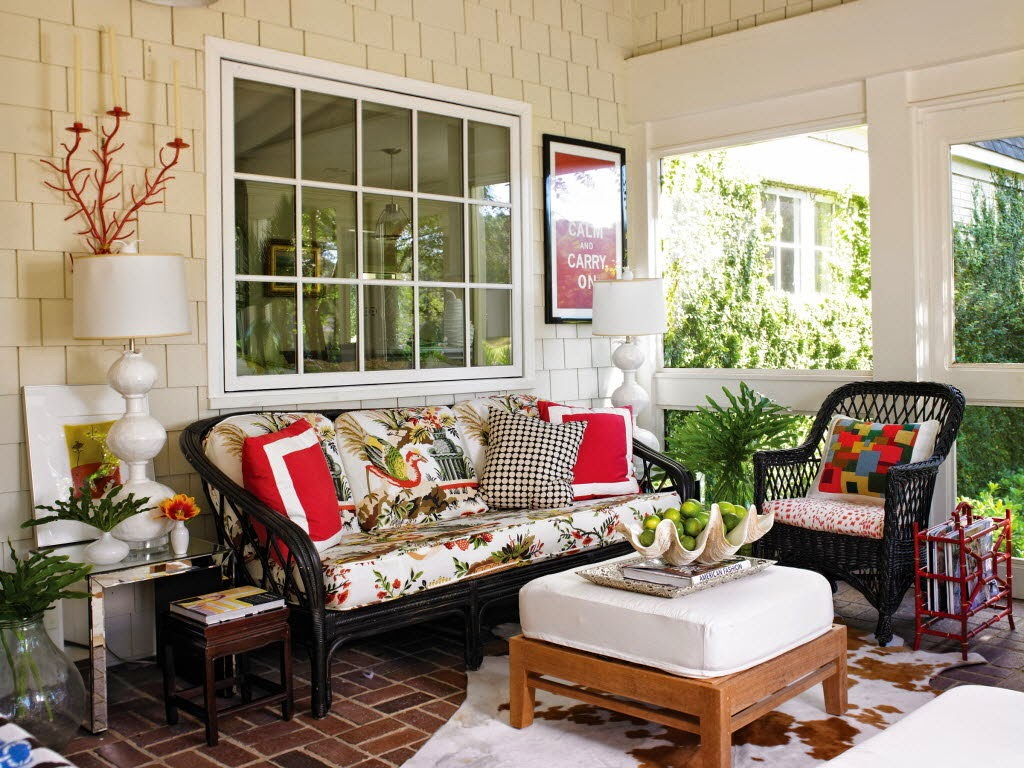 front porch decor ideas with wicker chairs black design combined with