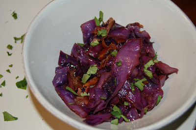 Balsamic Red Cabbage with Bacon | www.kettlercuisine.com