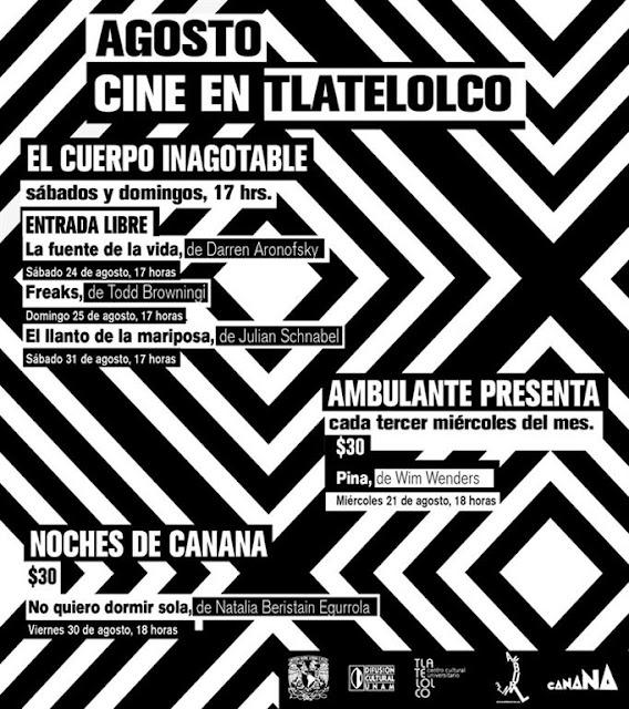 Cine en Tlatelolco durante el resto de Agosto