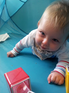 tummy time, 9 months old, sensory blocks