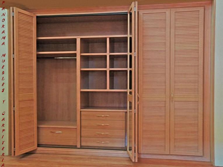 Panorama muebles y carpinteria closet modernos for Armario de madera conforama