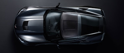 Corvette Stingray  on Top Down  The Flowing Lines Point The Massive Aerodynamic Work Done To