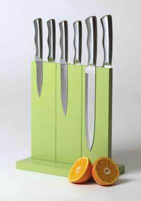 magnetic knife block, green color