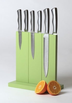 magnetic knife block, green color