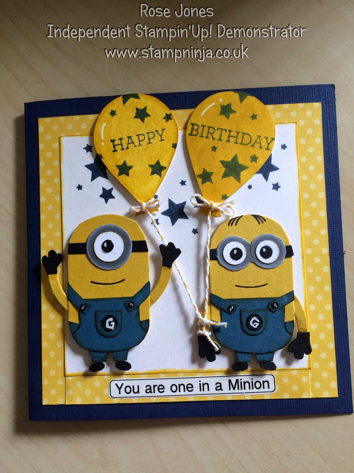 stamp ninja  minions birthday card