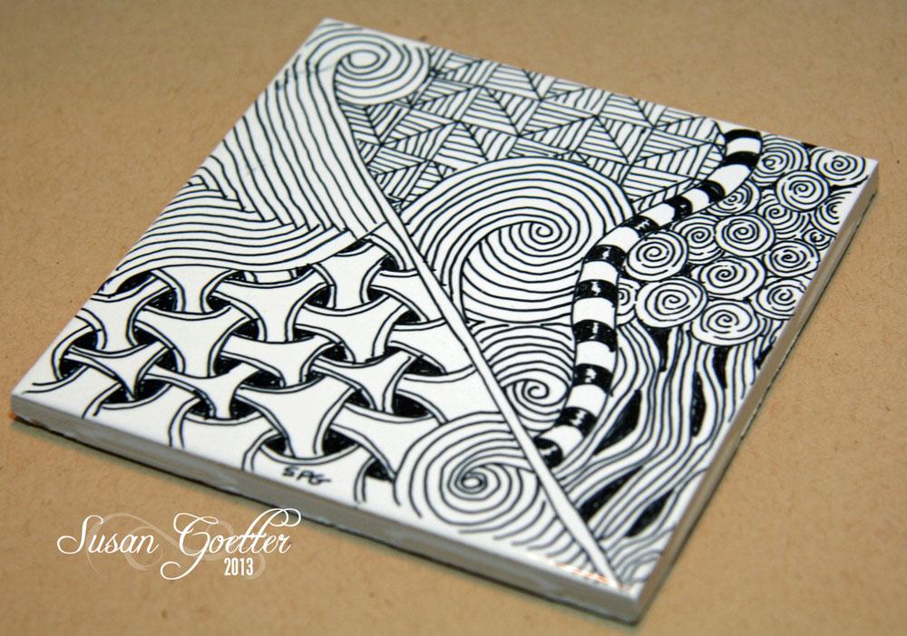 Susan Goetter: Zentangle Challenge #110 - Outside the box