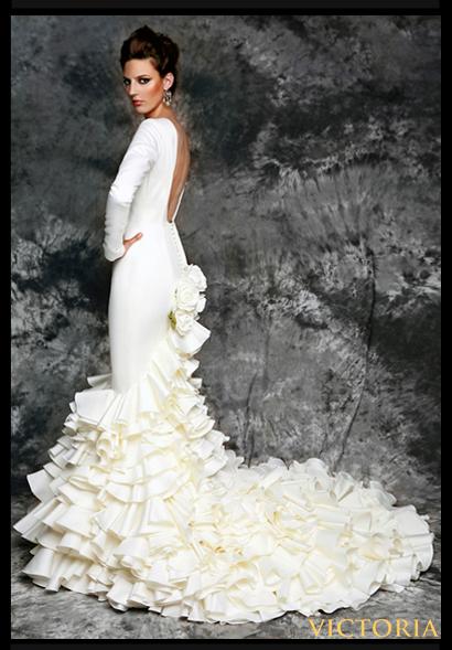 Vestidos de dama de honor flamencos