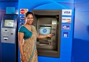 atm in india three time use