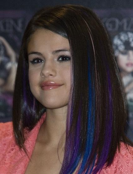 Blue And Purple Highlights Selena Gomez | wigsbuyonline ...