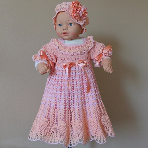 Peach - Pink Little Girl Dress